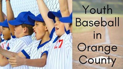 Youth Baseball Leagues Camp Travel Teams Enjoy Oc